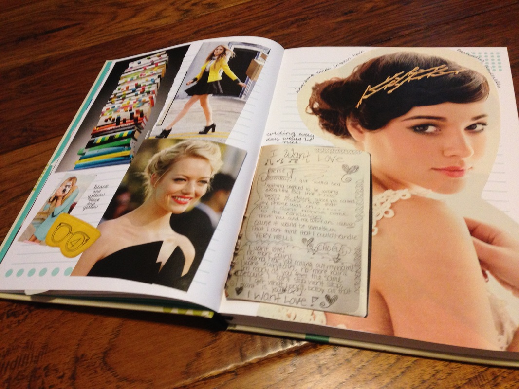 How to scrapbook magazine articles - Magazine Clippings Scrapbook Art Journal